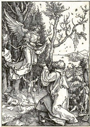 Albrecht Durer - Joachim and the Angel, from Life of the Virgin
