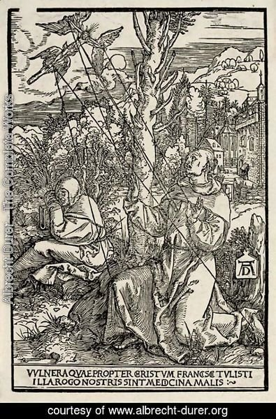 Albrecht Durer - Saint Francis receiving the Stigmata