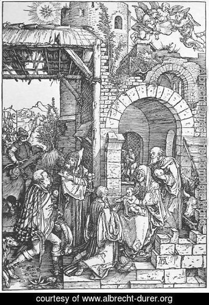 Albrecht Durer - The Adoration of the Magi, from The Life of the Virgin