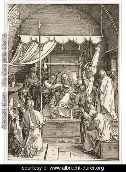 Albrecht Durer - The Death of the Virgin, from The Life of the Virgin