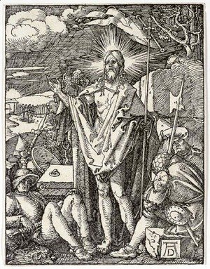 Albrecht Durer - The Resurrection, from The Small Woodcut Passion