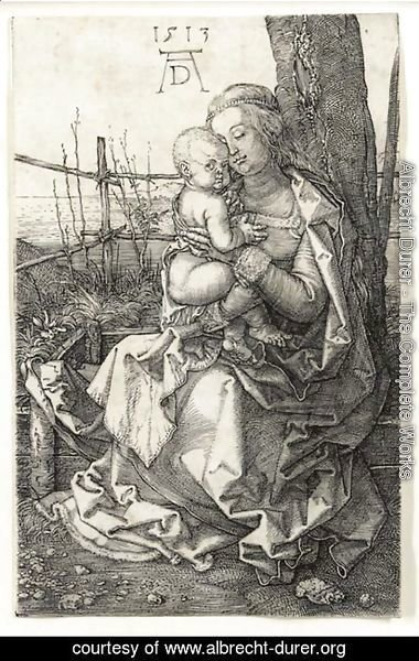 Albrecht Durer - The Virgin and Child seated by a Tree