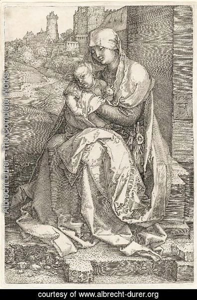 The Virgin and Child seated by a Wall