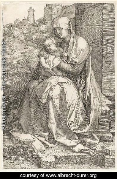 Albrecht Durer - The Virgin and Child seated by a Wall