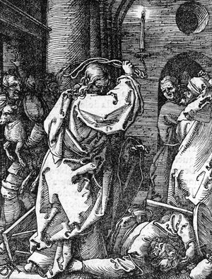 Albrecht Durer - Christ driving the Money Changers from the Temple, from The Small Passion