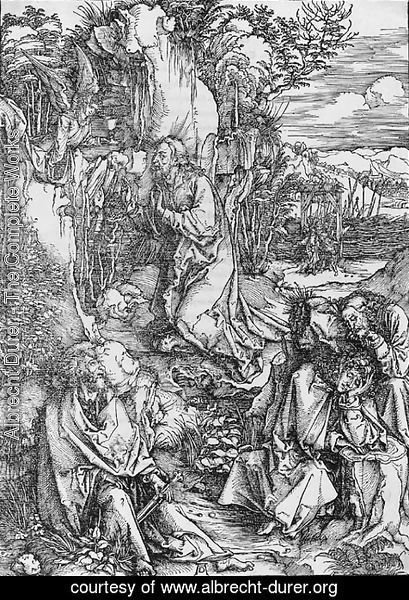 Albrecht Durer - The Agony in the Garden, from The Large Passion