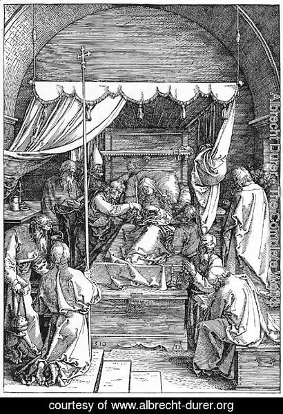 Albrecht Durer - The Death of the Virgin, from The Life of the Virgin 2