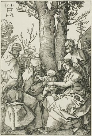 Albrecht Durer - The Holy Family with Joachim and Saint Ann