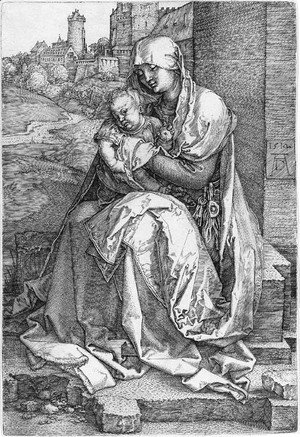 Albrecht Durer - The Virgin and Child Seated by a Wall 2