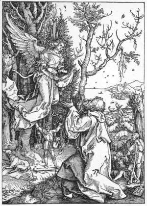 Albrecht Durer - Joachim and the Angel, from The Life of the Virgin