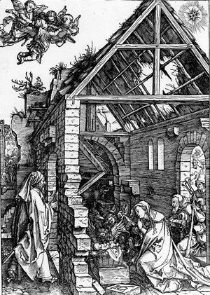 Albrecht Durer - The Nativity, from The Life of the Virgin