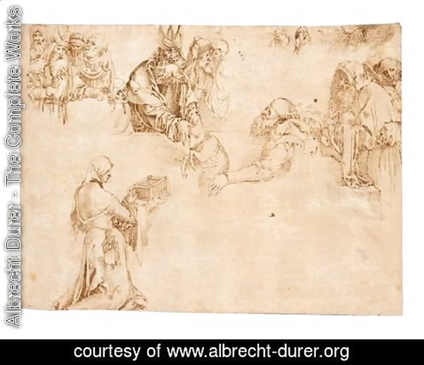 Albrecht Durer - Sheet Of Figure Studies