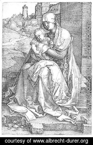 Albrecht Durer - The Virgin And Child Seated By The Wall