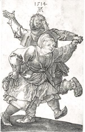 Albrecht Durer - The Peasant Couple Dancing