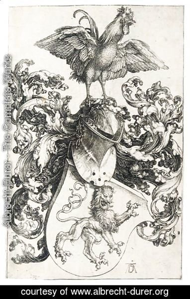 Albrecht Durer - The Coat Of Arms With A Cock