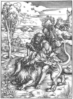 Samson Fighting With The Lion