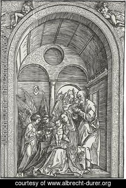 Albrecht Durer - The Holy Family With Two Angels In A Vaulted Hall 2