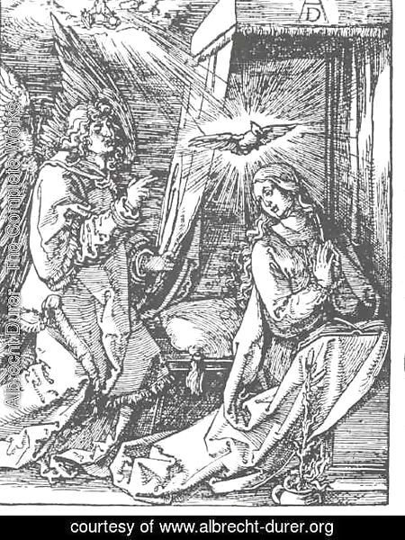 Albrecht Durer - The Annunciation, From The Small Passion