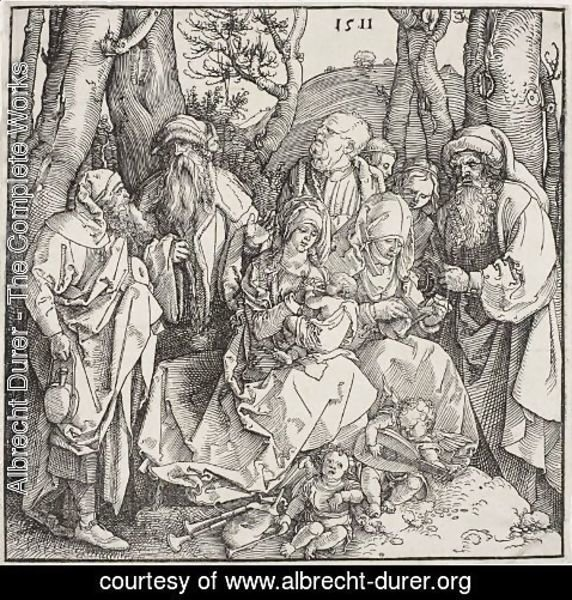 Albrecht Durer - The holy kinship with the lute-playing angels 2