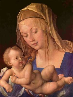 Albrecht Durer - The Madonna with the child
