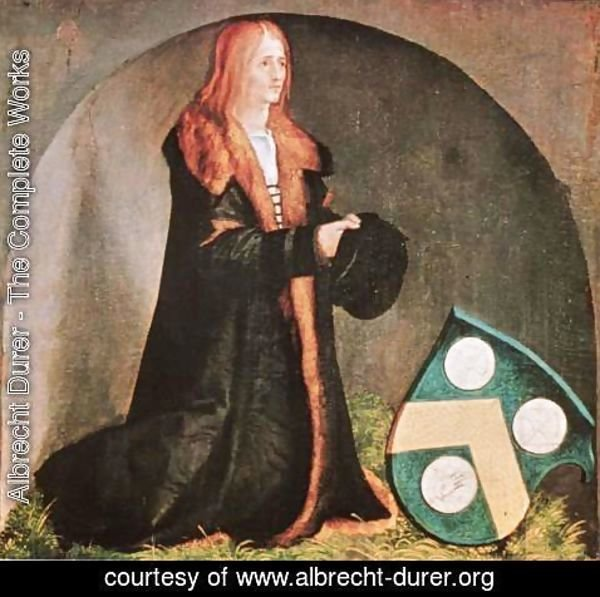 Albrecht Durer - Heller Altarpiece, the founder Jacob Heller with Coat of Arms