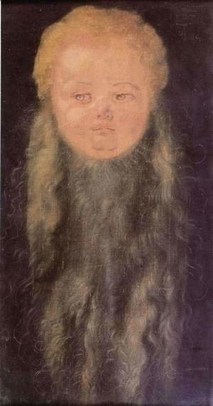 Head of a bearded child
