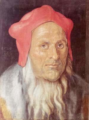 Albrecht Durer - Portrait of a bearded man with red cap