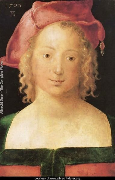 Portrait of a young girl with red cap