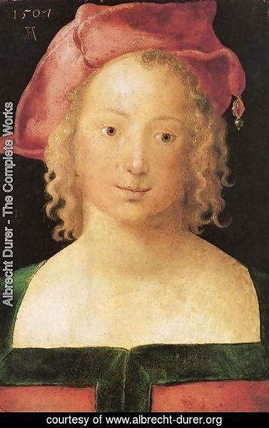 Albrecht Durer - Portrait of a young girl with red cap