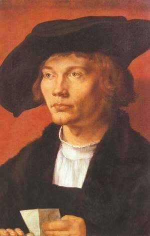 Albrecht Durer - Portrait of a young man (portrait of Berne Hart van Resten)