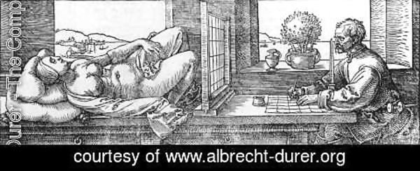 Albrecht Durer - Draughtsman Drawing a Recumbent Woman