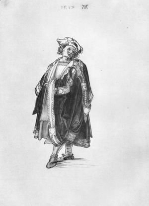 Albrecht Durer - Design to a court dress