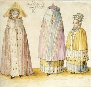Albrecht Durer - Three Mighty Ladies from Livonia