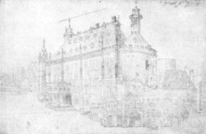 Albrecht Durer - The town hall in Aachen