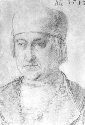 Albrecht Durer - Portrait of a Man with cap