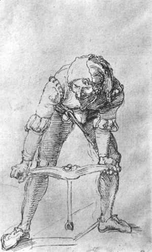 Study of a man with a Drill
