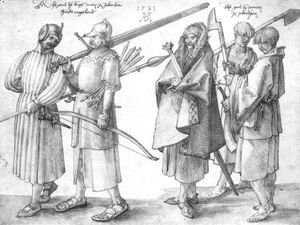 Albrecht Durer - Irish soldiers and peasants