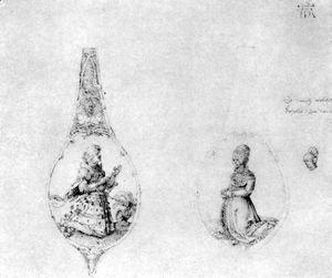 Albrecht Durer - Ornaments for two spoons stalks