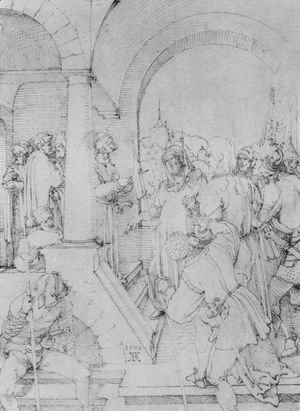 Albrecht Durer - Christ before Pilate 3