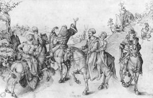 Albrecht Durer - Society on horseback