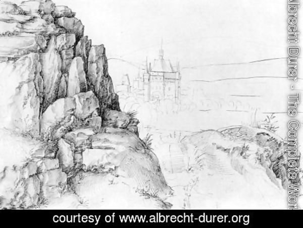 Albrecht Durer - Rock study of hikers