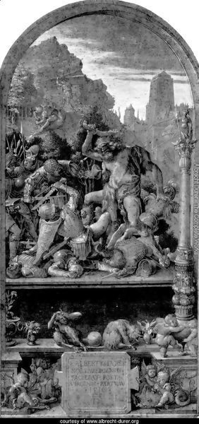 Design for the Fugger Chapel in Augsburg Samson fighting the Philistines