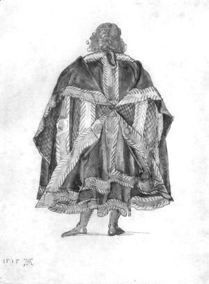 Albrecht Durer - Design to a court dress 2