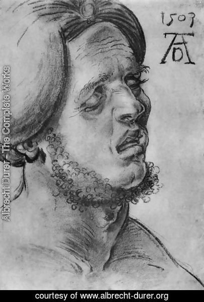 Albrecht Durer - Head of a suffering man