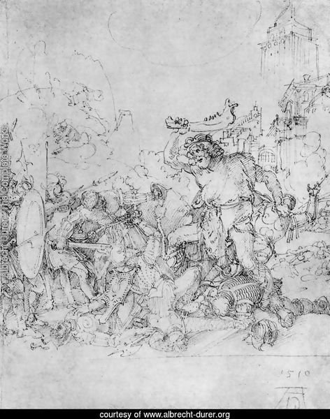 Design for the Fugger Chapel in Augsburg Samson fighting the Philistines 2