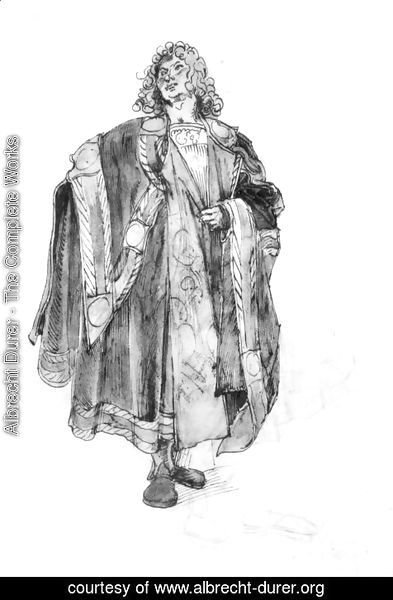 Albrecht Durer - Design to a court dress 3