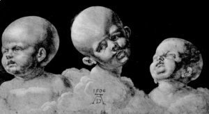 Albrecht Durer - Three children's heads