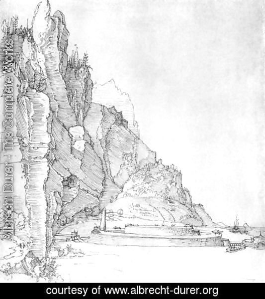 Albrecht Durer - Fort between mountains and sea