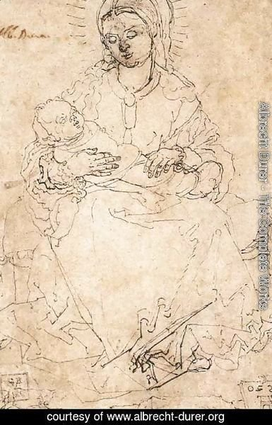 Albrecht Durer - Madonna and Child on a Stone Bench