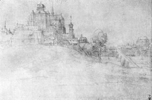 Albrecht Durer - View of Bergen op Zoom